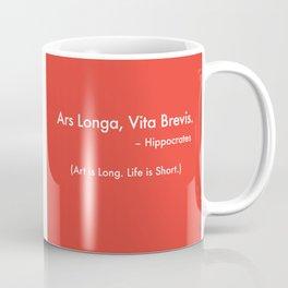 Ars Longa. Vita Brevis. Brand Design Coffee Mug