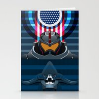 pacific rim Stationery Cards featuring Pacific Rim, Jaws edition by milanova