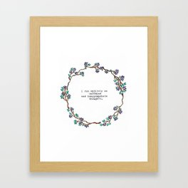 Caffeine and Inappropriate Thought Framed Art Print
