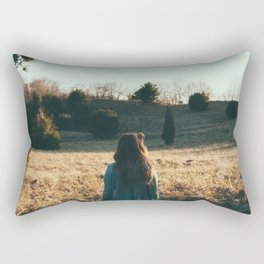 into the field  Rectangular Pillow