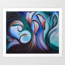 Lily Patch Art Print