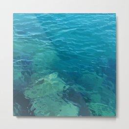 Beau Aqua Metal Print
