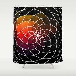 Dark Kaleidoscope Shower Curtain