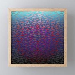Shark Feeding Frenzy. Framed Mini Art Print