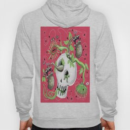 Skull Cachepot with Carnivorous Plants Hoody