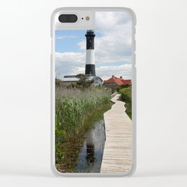 Fire Island Light With Reflection - Long Island Clear iPhone Case