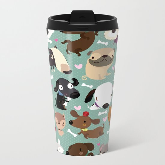 Dog pattern Metal Travel Mug