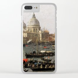Canaletto Venice, the San Marco Basin on the Day of Ascension Clear iPhone Case