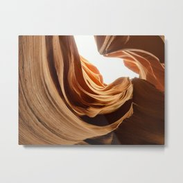 Antelope Canyon Curvy Rocks Metal Print