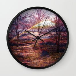The Painted Path Wall Clock
