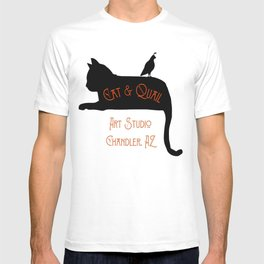 Cat and Quail Art Studio T-shirt