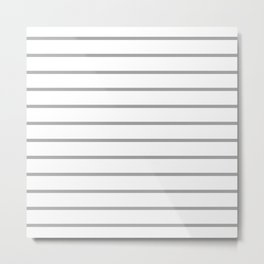 Gray and White Breton Stripes Metal Print
