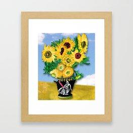 Sunflowers in Vader Vase Framed Art Print
