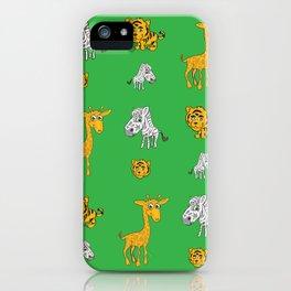 Cute Jungle Animals Pattern  iPhone Case