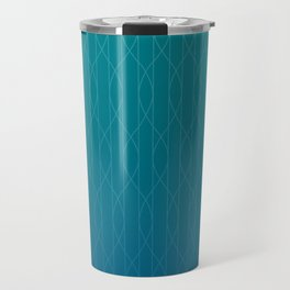 Wave pattern in teal Travel Mug