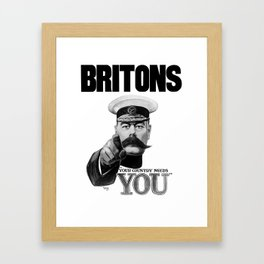 Britons Your Country Needs You - Lord Kitchener Framed Art Print