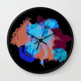 Splatter koi fish Wall Clock