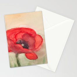Mohnblume - Grand Red Poppy Stationery Cards