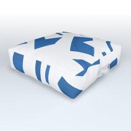 Cut Out - Blue Outdoor Floor Cushion