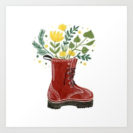 In love with my boot Art Print
