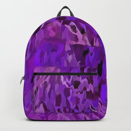 Distressed Violet Tree Bark Abstract Backpack