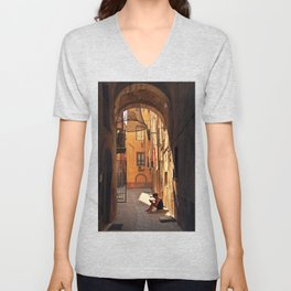 ARCHWAY and Sardinian fish traps Unisex V-Neck