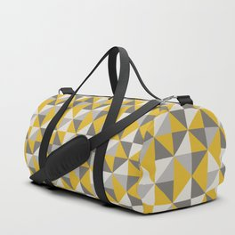 Retro Triangle Pattern in Yellow and Grey Duffle Bag