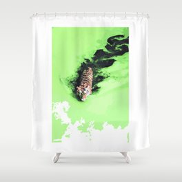 Pantheras tigris x1 Shower Curtain