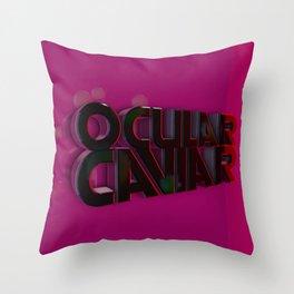 Ocular Caviar Logo Throw Pillow
