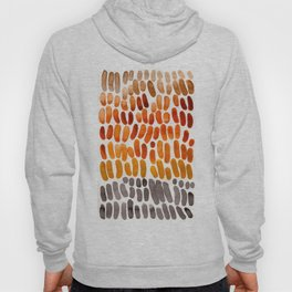 Yellow Ochre Brown Dark Brown Fall Autumn Color Palette Natural Patterns Colorful WatercolorAbstract Hoody