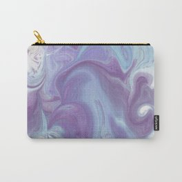 Purple, Blue, and White Abstract Carry-All Pouch