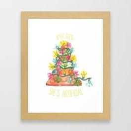 Artificial Tree Framed Art Print