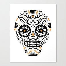Sugar Skull SF - white Canvas Print