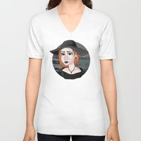 ginger V-neck T-shirts featuring Ginger by Julia Kolos