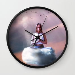 Meditate Wall Clock