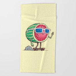 Watermelon Skater Beach Towel