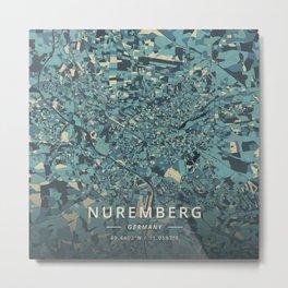 Nuremberg, Germany - Cream Blue Metal Print