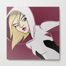 The Girl in the Spider Suit Metal Print