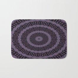 Eggplant and Pale Aubergine Circles Kaleidoscope Pattern Bath Mat