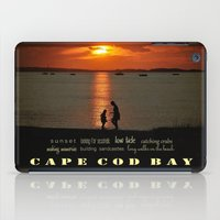 cape cod iPad Cases featuring cape cod bay sunset by marie grady palcic