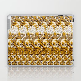abstract floral in ochre and cream texture Laptop & iPad Skin