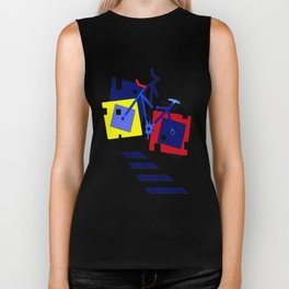 Abstract geometrical bicycles. Biker Tank