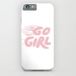 Go Girl vintage pink iPhone Case