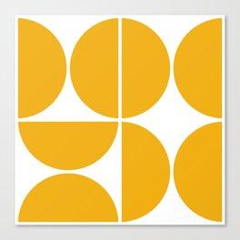 Mid Century Modern Yellow Square Canvas Print