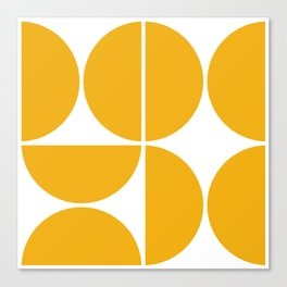 Mid Century Modern Yellow Square Canvas Print