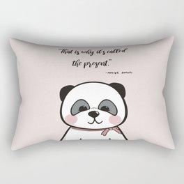 Mummy Panda Nursery Print in Pink (3 of 3) Rectangular Pillow
