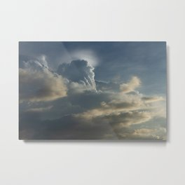 Godly Clouds Metal Print