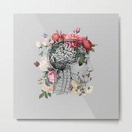 Beautiful Brain ~ Gray Metal Print