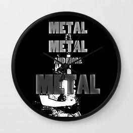 Metal, Metal and More Metal Wall Clock