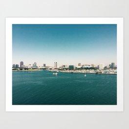 Dowtown Long Beach Art Print